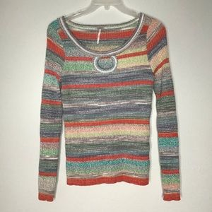 Free People Sunshine Daydream Sweater Sz Lg